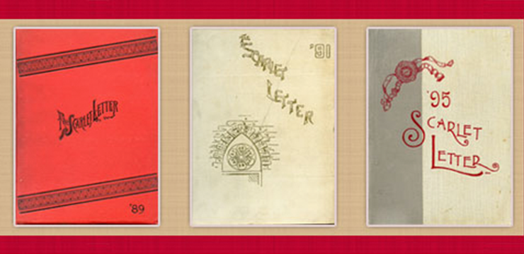 covers of the scarlet letter from 1989, 1991, 1995
